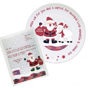 Personalised Rooftop Santa Christmas Eve Plate