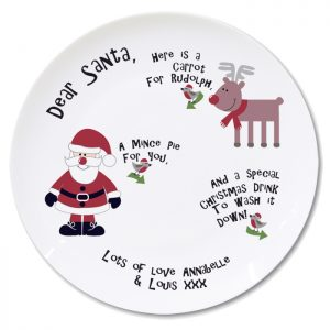 Personalised Dear Santa Christmas Eve Plate