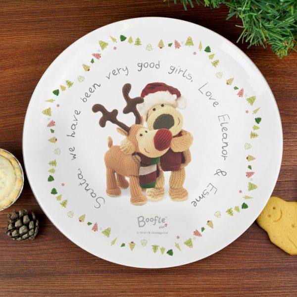 Personalised Boofle Christmas Eve Plate