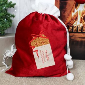 Gift Tag Christmas Sack