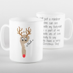 Footprint Reindeer Mug