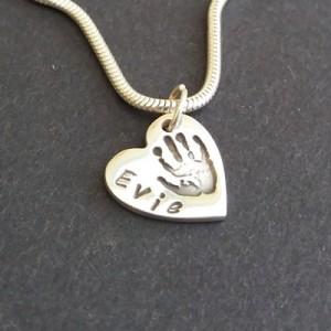Heart Handprint Necklace