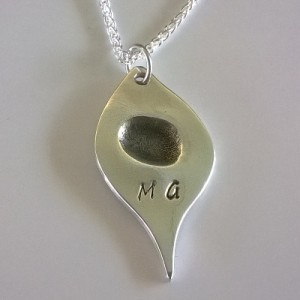 Leaf Fingerprint Necklace